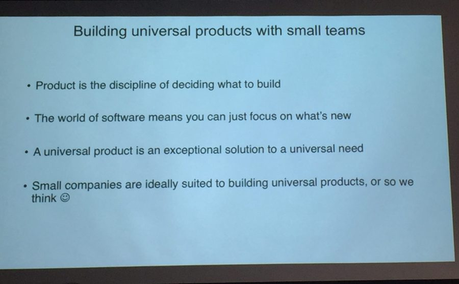 Managing Products Sydney - small teams hypothesis