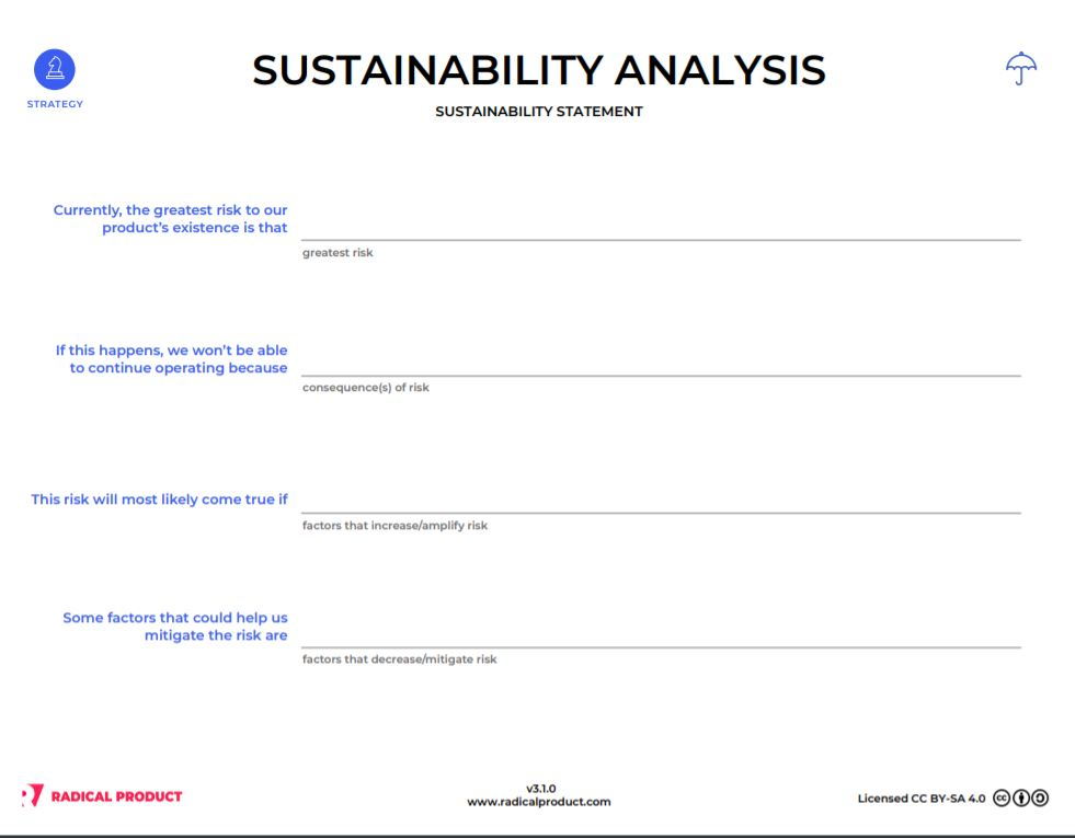Radical Sustainability Statement